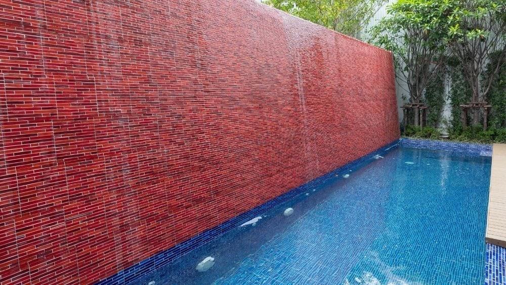 Brick pool Waterfall