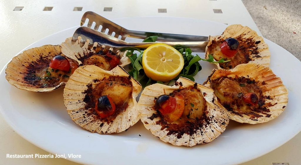 Typical seafood served